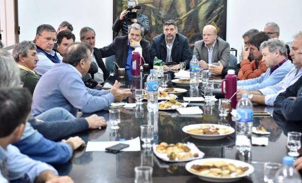 Reunión en la sede de Federación Agraria Argentina.