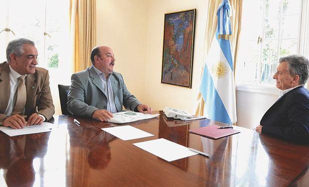Macri recibió en Olivos a la cúpula de Coninagro.