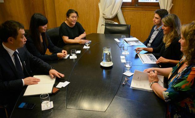Representantes de Agroindustria durante la reunión con la delegación japonesa.