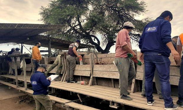 Allanamiento en el campo de Santiago del Estero. Foto: La Nación