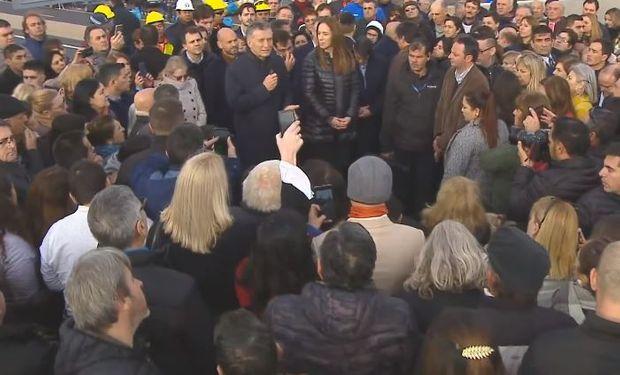 Macri durante la inauguración del tramo de la Ruta 7.