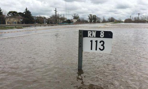 Ruta 8, San Antonio de Areco.  Foto:  LA NACION  / Ricardo Pristupluk.