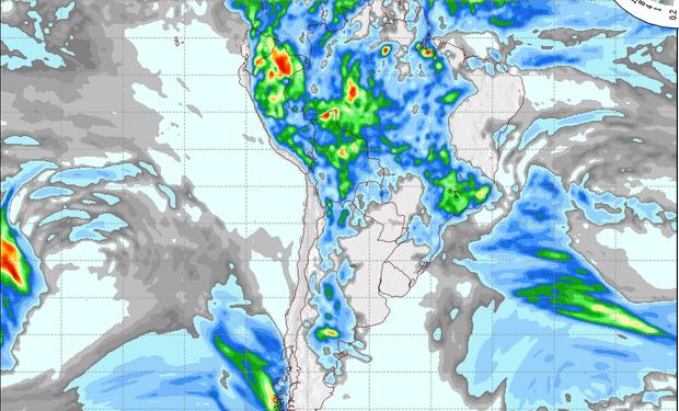 Pronóstico de lluvias para el 24 de noviembre.