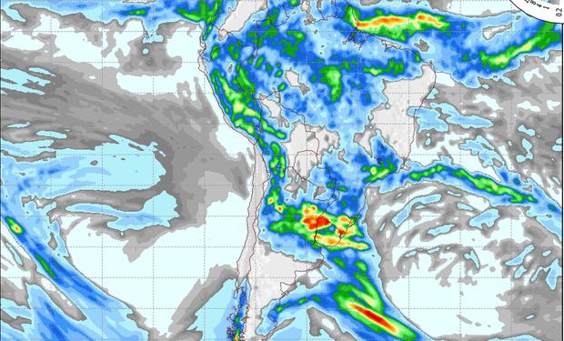 Pronóstico lluvias jueves 16 de enero.