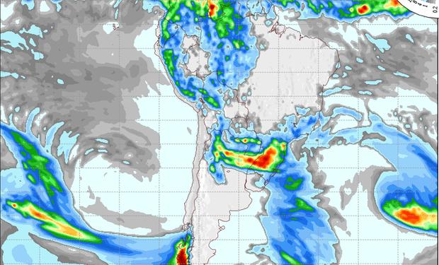 Pronóstico de precipitaciones para el 3 de noviembre.
