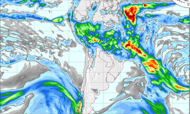 Pronóstico de lluvias para el 21 de marzo.
