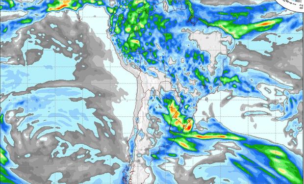 Pronóstico de precipitaciones para el 5 de mayo.