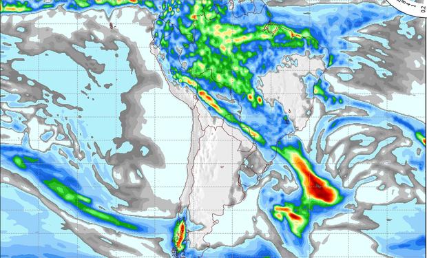 Pronóstico de lluvias para el domingo.