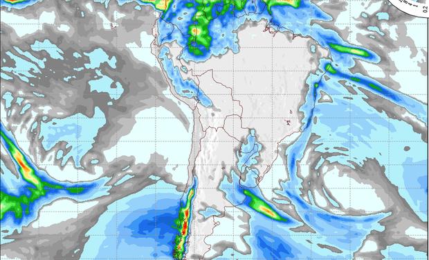 Pronóstico de lluvias para el 21 de julio.