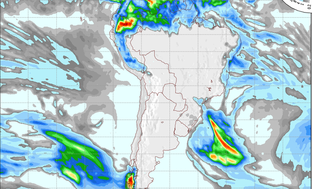 Pronóstico de lluvias para el 28 de julio.