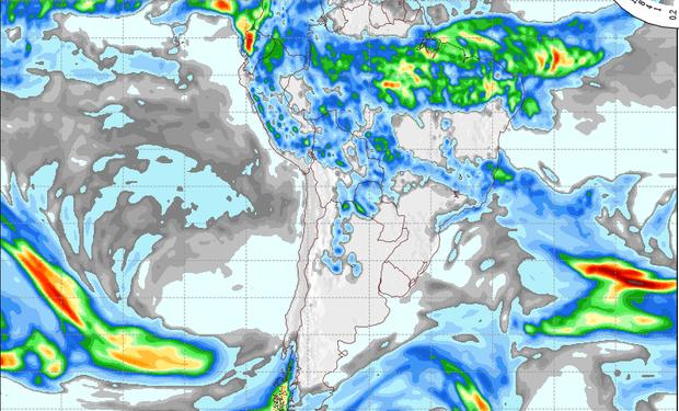 Pronóstico de precipitaciones para el 30 de abril.