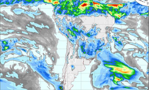 Pronóstico de lluvias para el martes.