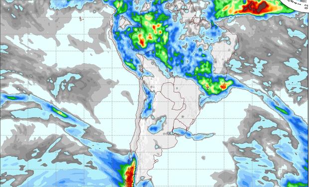 Pronóstico de lluvias para el 20 de noviembre.