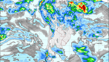 Lluvias: el sábado propone mayor actividad para la franja central
