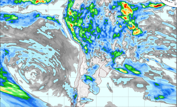 Pronóstico de lluvias para el 17 de marzo.