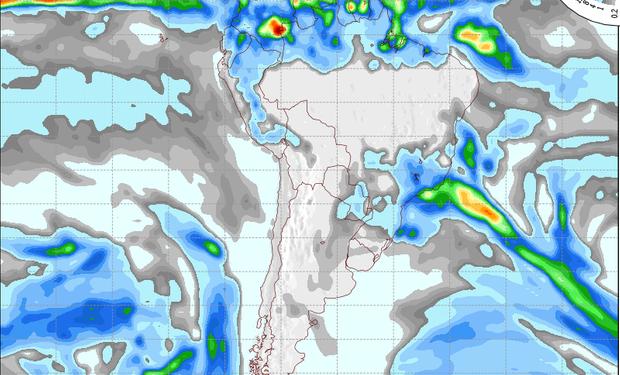 Pronóstico de precipitaciones para el 11 de julio de 2014.