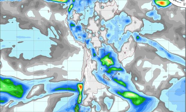 Pronostico de precipitaciones válido para el 24 de septiembre de 2014.