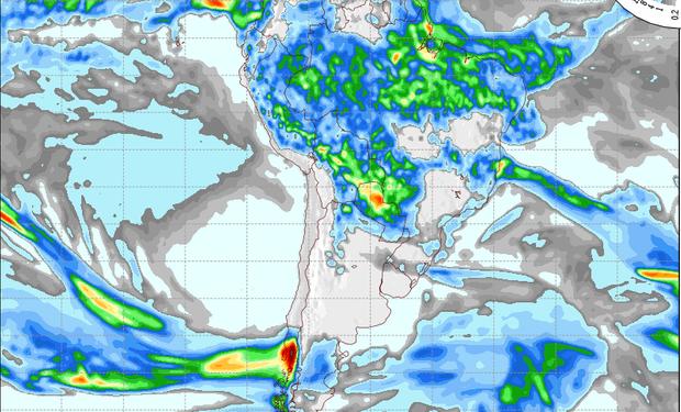 Pronóstico de precipitaciones para el 1 de mayo.