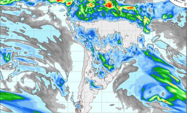 Pronóstico de lluvias para el miércoles.