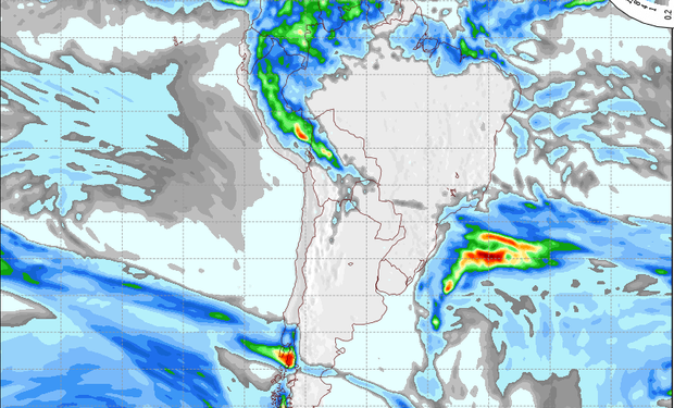 Pronóstico de lluvias para el 17 de julio.