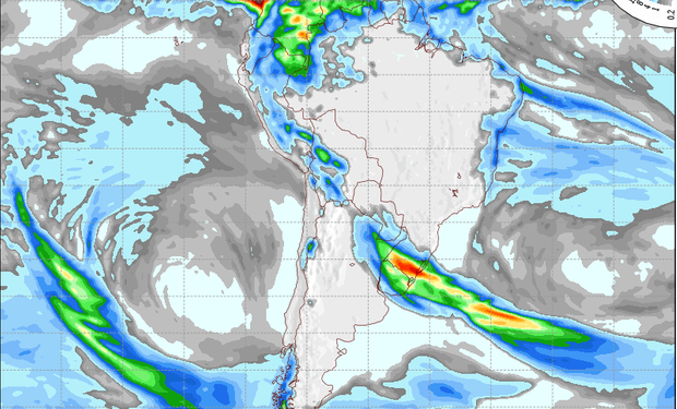 Pronóstico de lluvias para el 24 de julio.