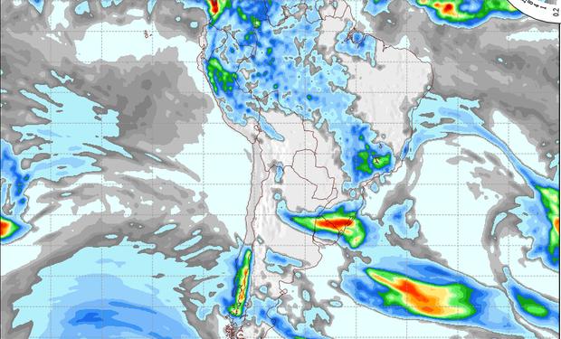 Pronóstico de precipitaciones para el 30 de octubre.