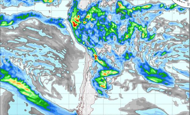 Pronóstico de lluvias para el 18 de marzo.