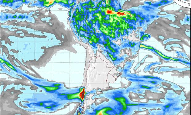 Pronóstico de precipitaciones para el 2 de mayo.