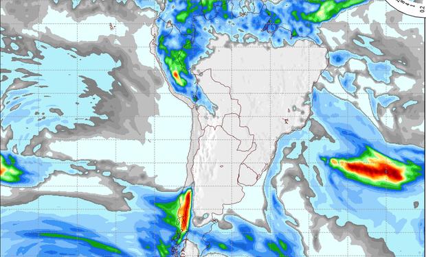 Pronóstico de lluvias para el 18 de julio.