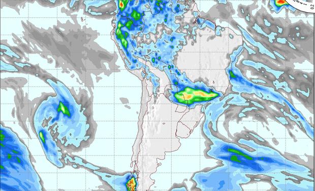 Pronóstico de precipitaciones para el 26 de septiembre.