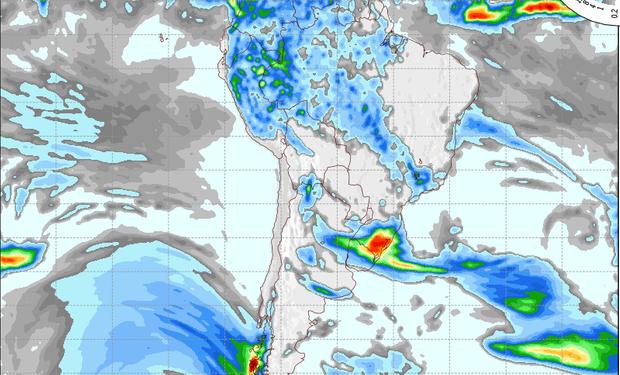 Pronóstico de precipitaciones para el 31 de octubre.