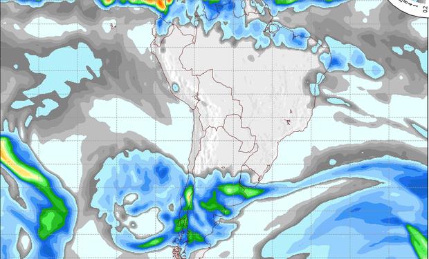 Pronóstico de precipitaciones válido para el 23 de agosto de 2014.