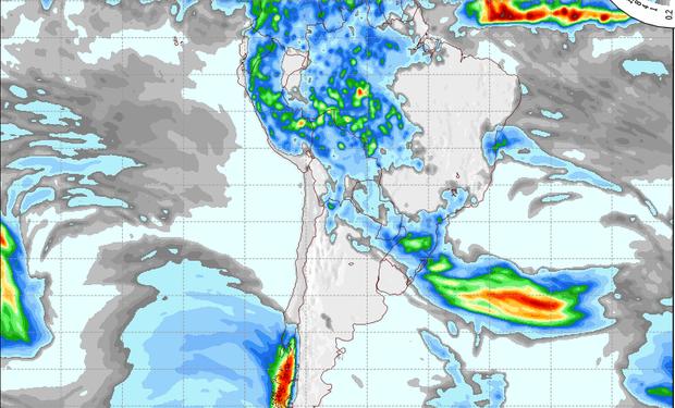 Pronóstico de precipitaciones para el 1º de noviembre.