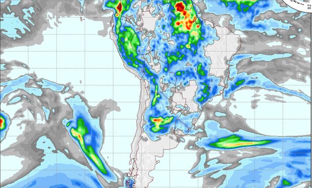 Pronóstico de lluvias para el 23 de noviembre.