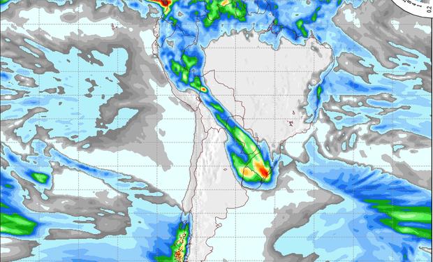 Pronóstico de lluvias para el 26 de julio.