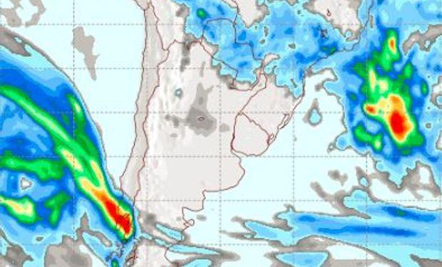 Pronóstico de lluvias para el sábado 6 de mayo.