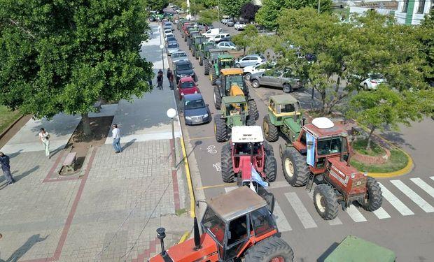 Tractorazo en Salliqueló.