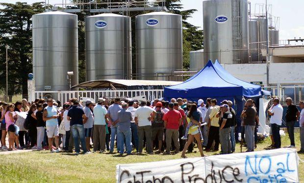 La cooperativa láctea SanCor dejó inactiva la planta de la localidad de Centeno. Foto: JUAN JOSE GARCIA