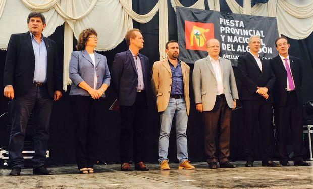 Contigiani participó este domingo de la Fiesta del Algodón.