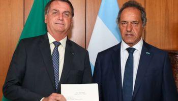 """Bolsonaro le dijo a Scioli que """"de corazón, quiere lo mejor para Argentina"""""""