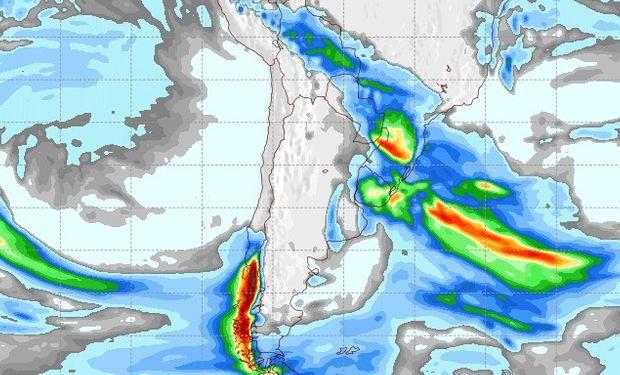 Pronóstico de precipitaciones para el viernes 9 de junio.