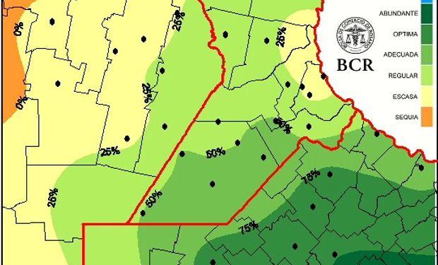 En Córdoba hacen falta entre 80 y 100 mm y alrededor de 20 a 30 mm en el centro de Santa Fe.