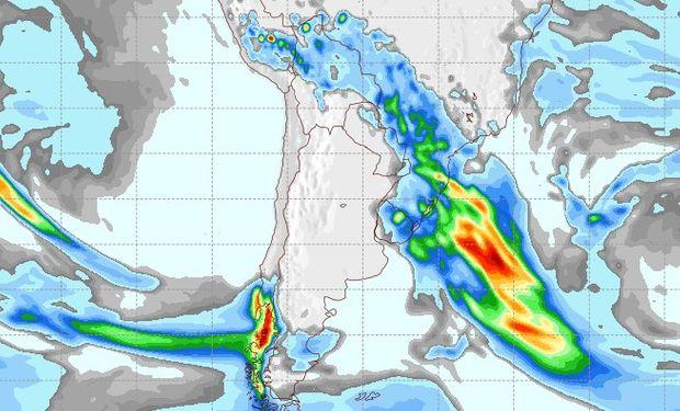 Pronóstico de lluvias para el 26 de agosto.