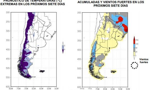 En los próximos 7 días no se prevén lluvias intensas en la región actualmente afectada por excesos hídricos.