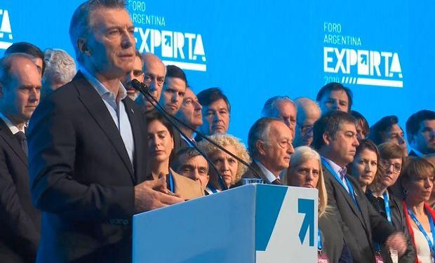 El presidente Macri en Argentina Exporta 2019.