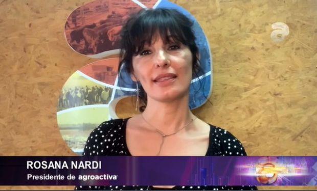 Rosana Nardi, presidenta de Agroactiva durante el lanzamiento oficial.