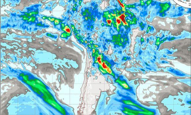 Pronóstico de lluvias para el jueves 16 de marzo.