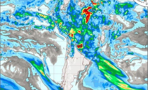 Pronóstico de lluvias para el viernes 17 de marzo.