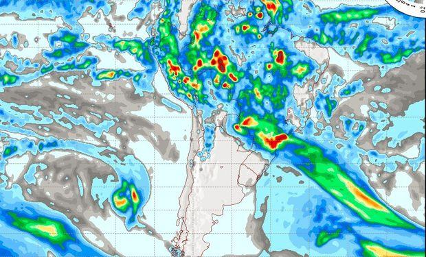 Pronóstico de lluvias para el sábado 18 de marzo.