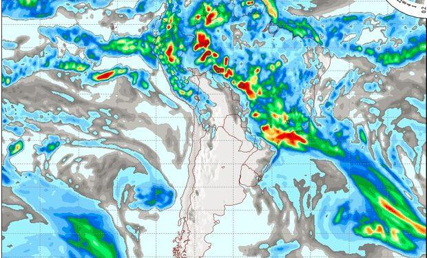 Pronóstico de lluvias para el domingo 19 de marzo.